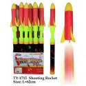 Styropor Rakete mit Abschussrohr