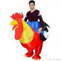 Aufblasbares Kostüm Hahn Reiter