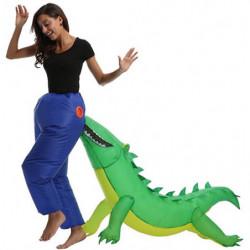 Fasnacht Witz Kostüm Krokodil am Po