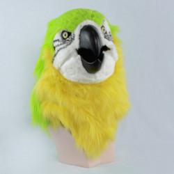Grüner Papagei Maske mit beweglichem schnabel