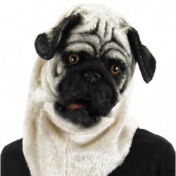 Mops Hunde Maske mit beweglicher Schnauze