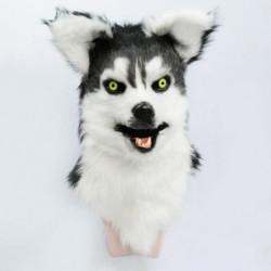 Wolfshund Husky Kinder Hundemaske mit beweglicher Schnauze