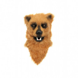 Braunbär Maske mit beweglichem Maul