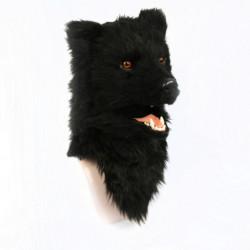 Bär Kinder Maske schwarzer Bär mit beweglichem Maul
