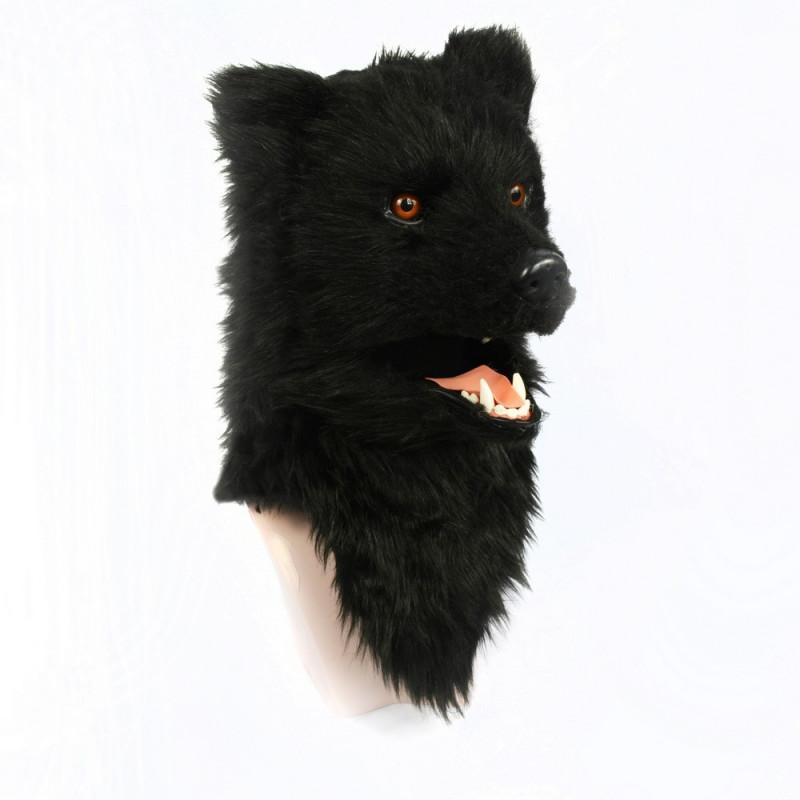Bär Maske schwarzer Bär mit beweglichem Maul