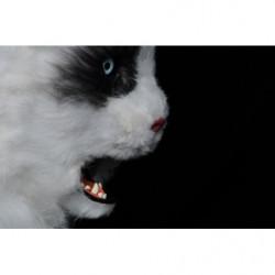 Katzen Maske mit beweglichem Maul