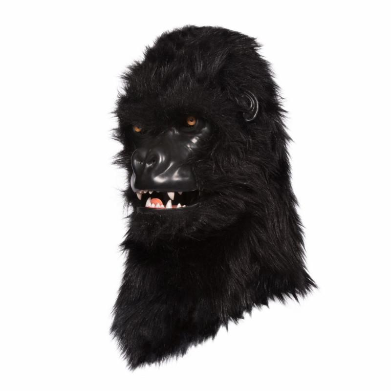 Gorilla Maske mit beweglichem Maul