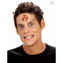Anarchie Brandzeichen Latex Wunden Attrappe