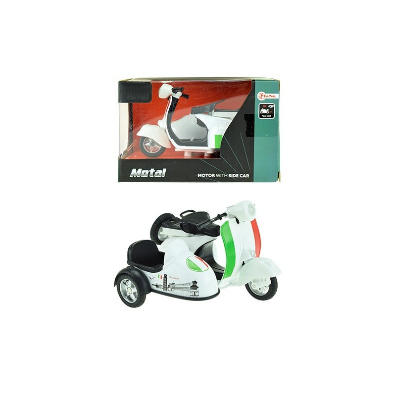 Vespa Metall Roller / Motorrad mit Seitenwagen XL