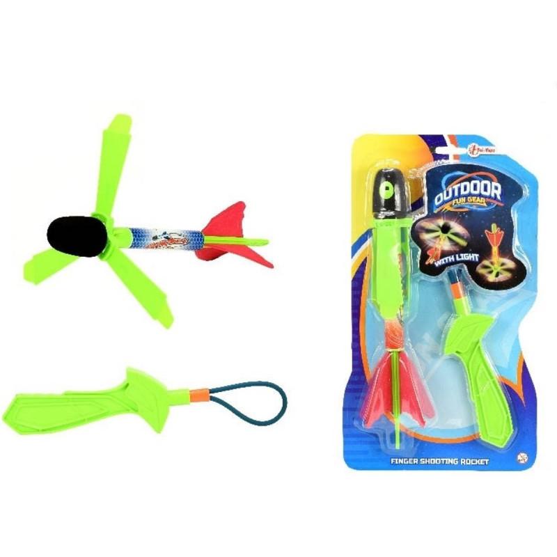 Profi Spielzeug Pfeil Rakete Helikopter mit licht XL