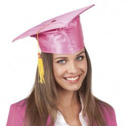 Diplom Hut Doktor Hut in rosa
