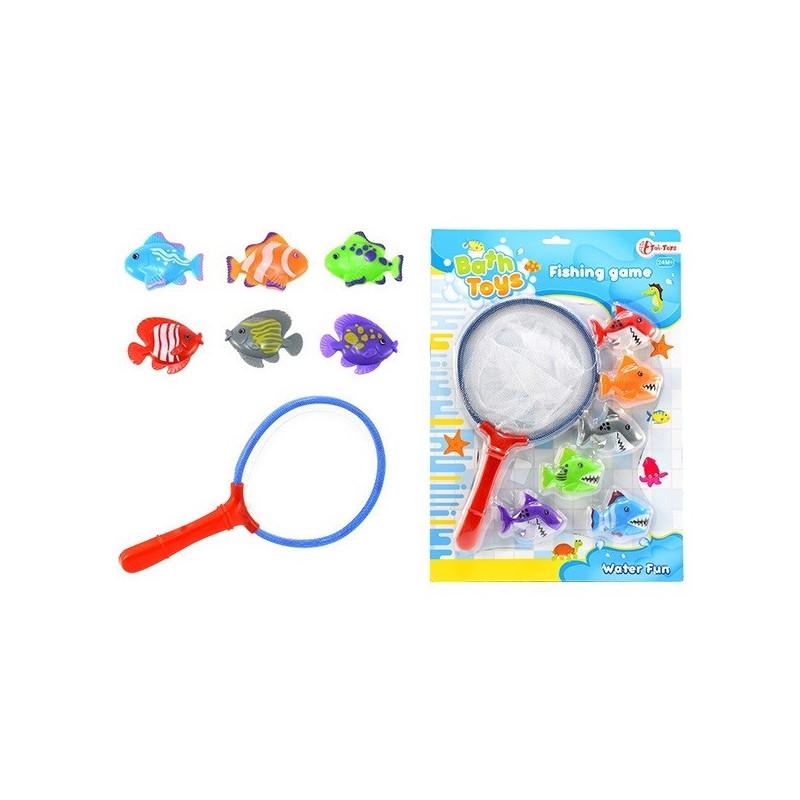 Angel Spiel mit 6 Fischen