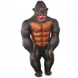 Aufblasbares Gorilla-Faschingskostüm