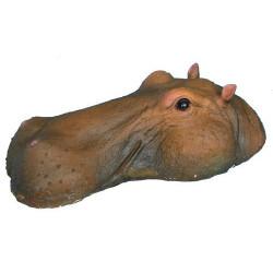 Schwimmender Nilpferd Kopf Teichdeko
