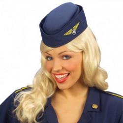 Hut Stewardess Flugbegleiterin Schiffchen