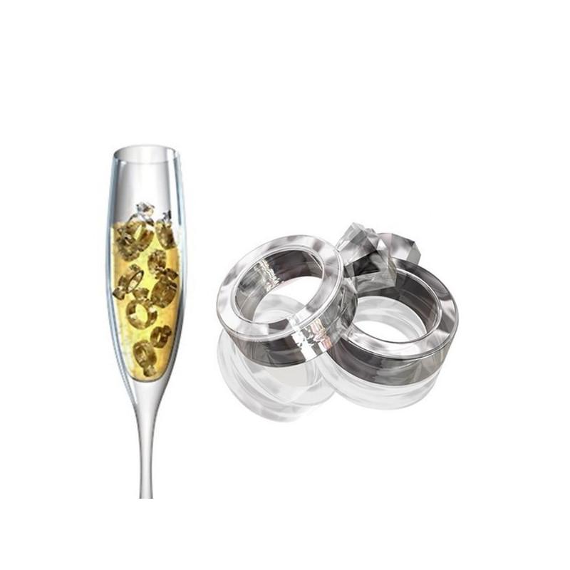 Eiswürfelform Diamant Ring