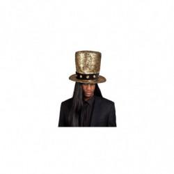 Goldener Zylinder Hut mit schwarzes Band