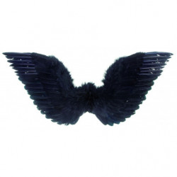 Federflügel schwarz