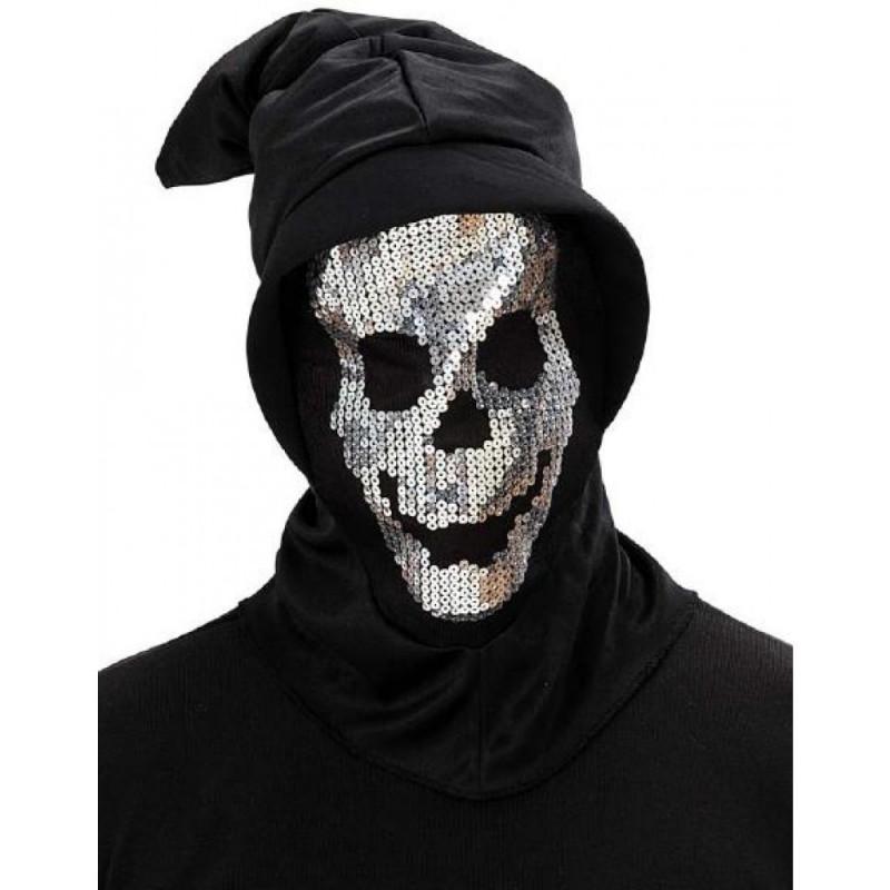 Pailletten Totenkopf Maske