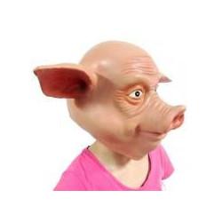 Lustige   Schweinemaske aus Latex
