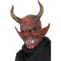 Dämonenmaske mit hörnern