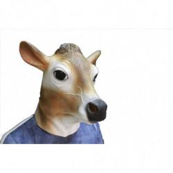 Schweizer Kuh Maske - braun weisser Kuh