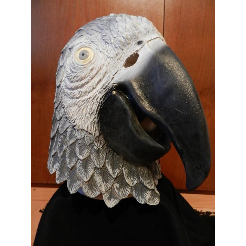 Graupapagei grauer Ara Maske