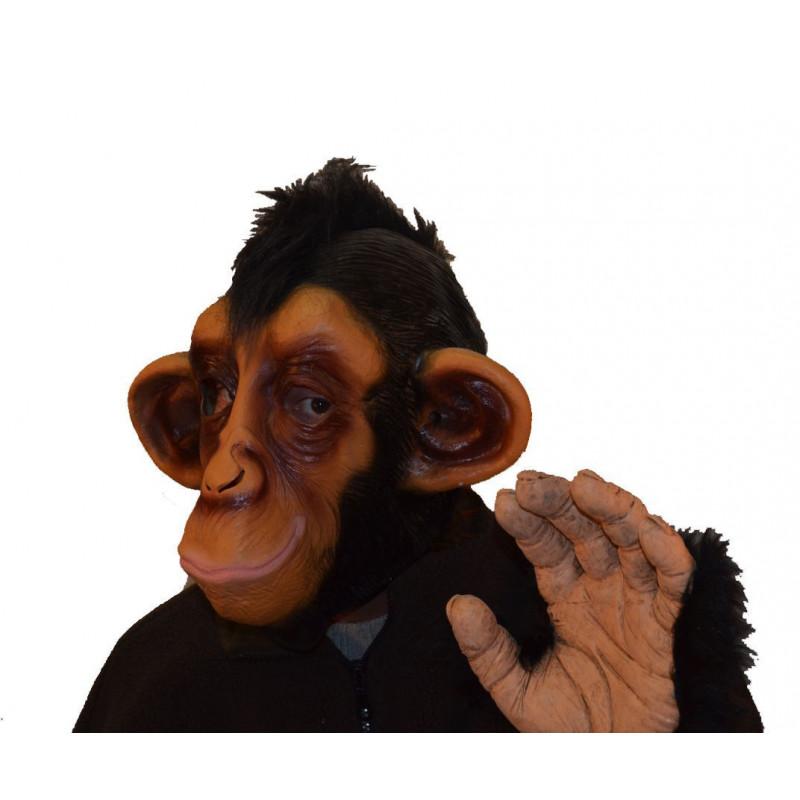 Lustige Schimpanse Maske mit Punkfrisur