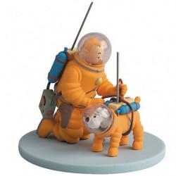 Tim und Struppi Sammelfiguren Tintin Kosmonaut