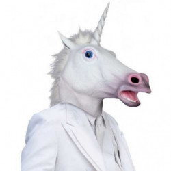 Einhorn Latex Maske Fashingsmaske