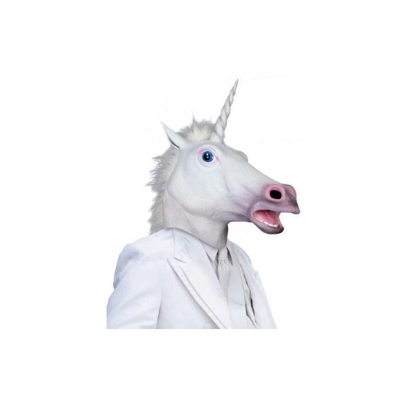 Einhorn Latex Maske Fashingsmaske