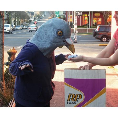 Gruselige Halloween Werwolf Maske Wolfsmaske mit Plüschhaar