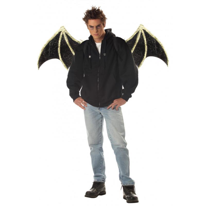 Schwarzen Kreatur flügel