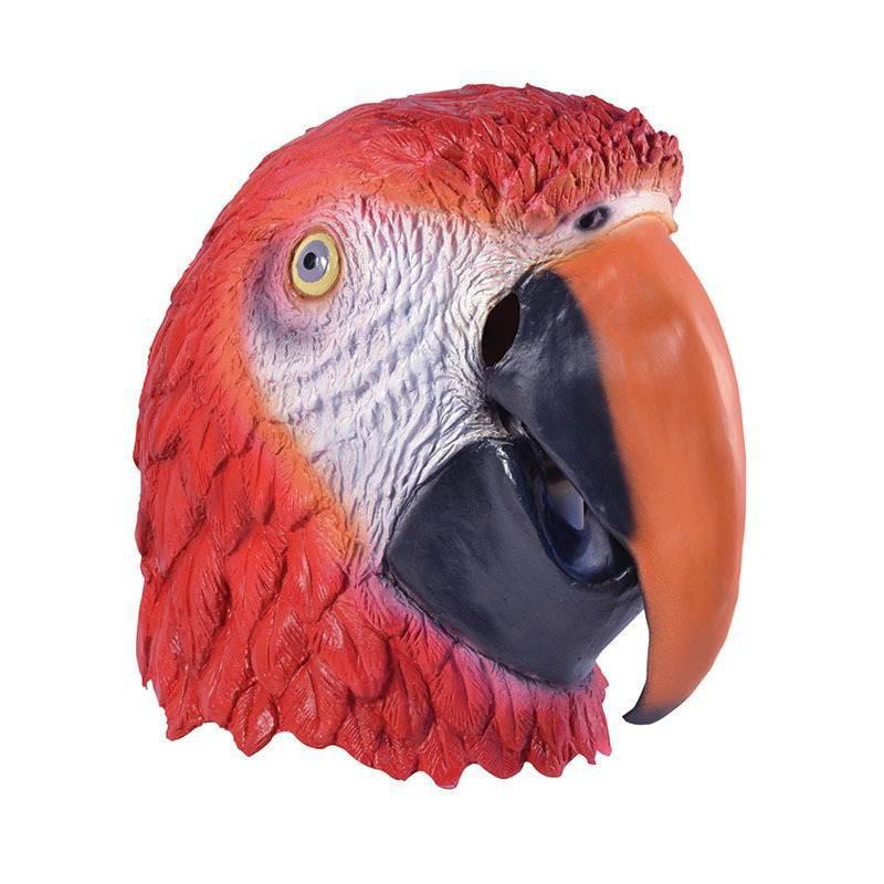 Roter Papagei Faschings Maske