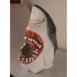 Hai Maske aus Latex Jaws