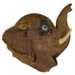 Elefantenmaske mit rüssel aus Latex